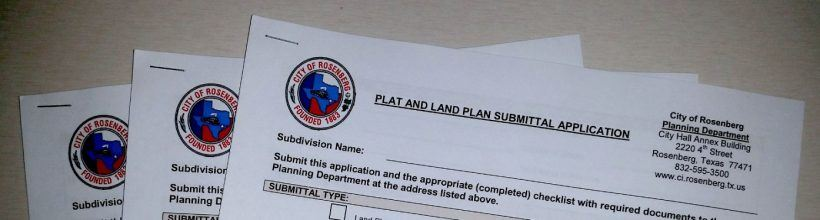 Plat and Land Plan Submittal Application