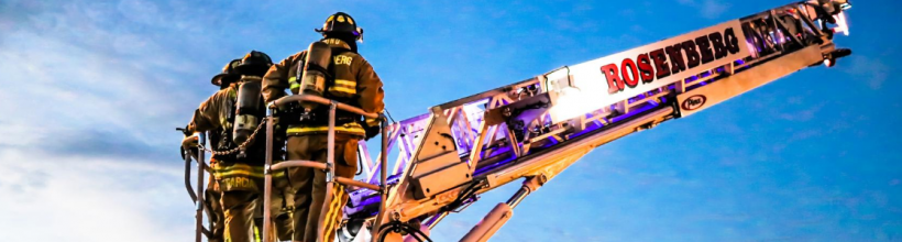 Firefighters Operating a Ladder