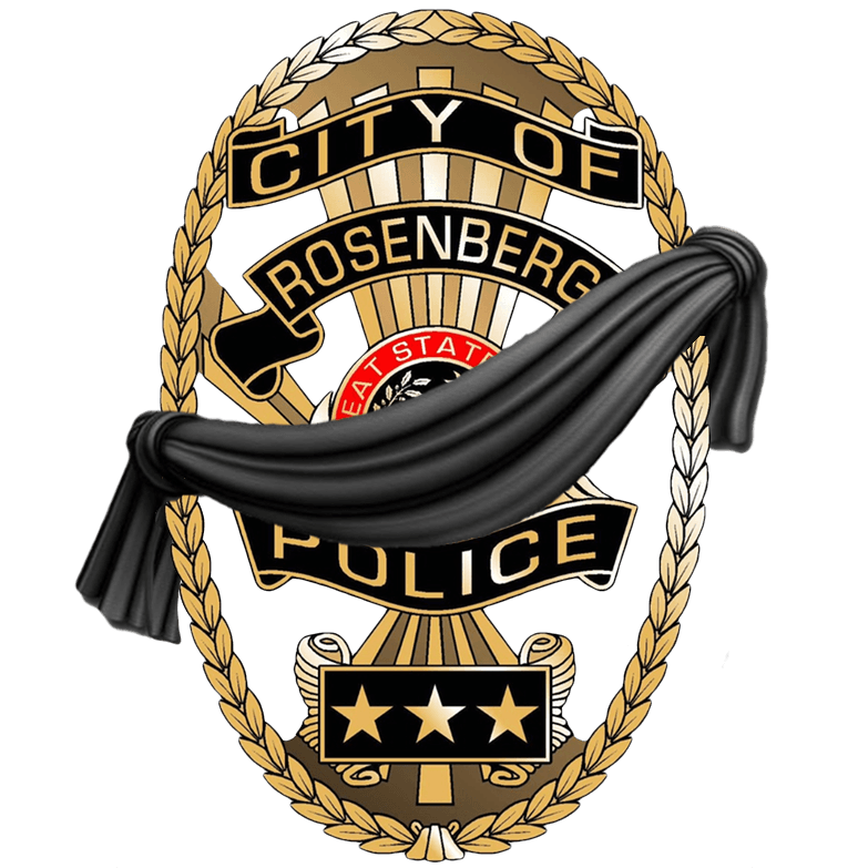 Badge with black Drape